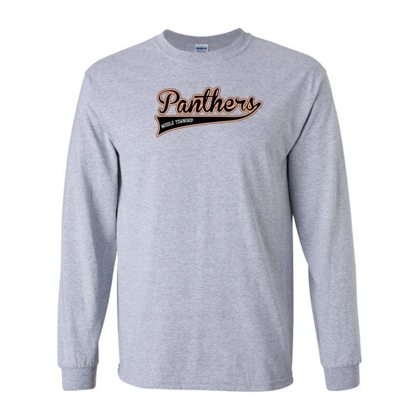 Image of Panthers Logo Longsleeve Tee (Grey)