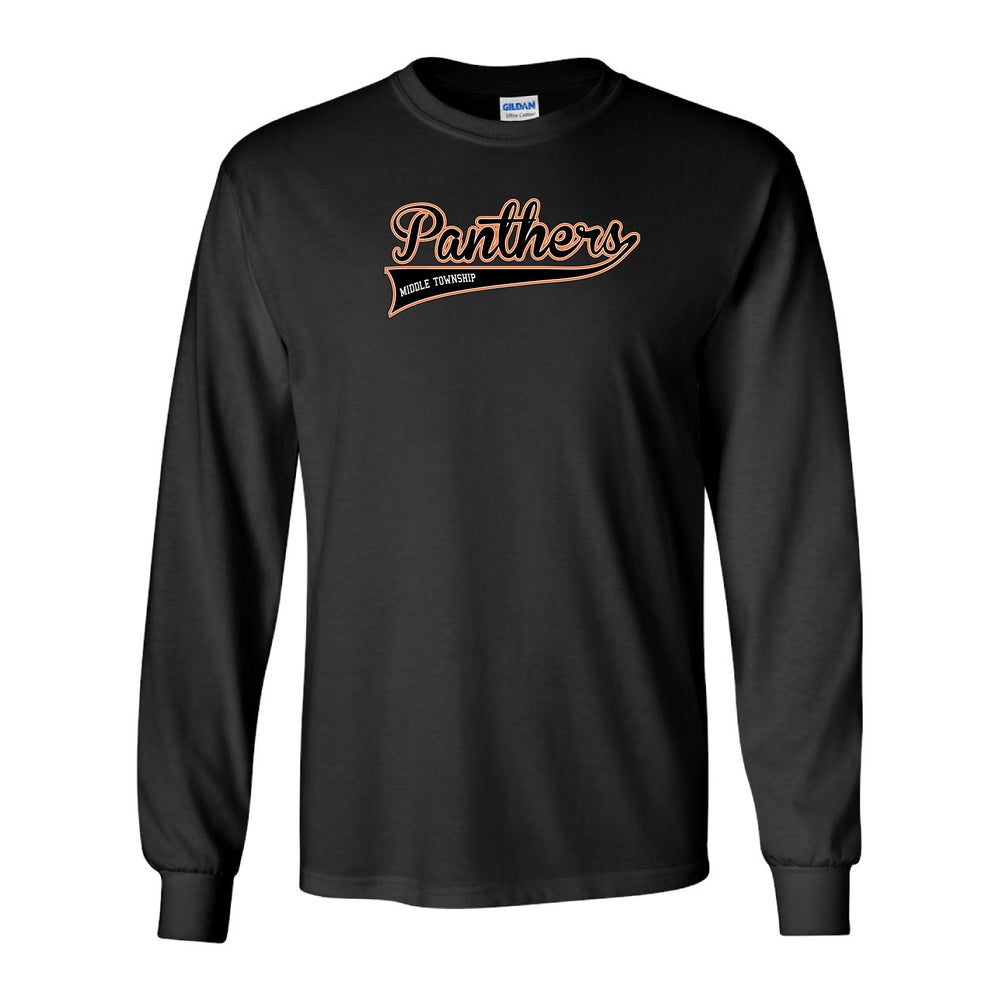 Image of Panthers Logo Longsleeve Tee (Black)