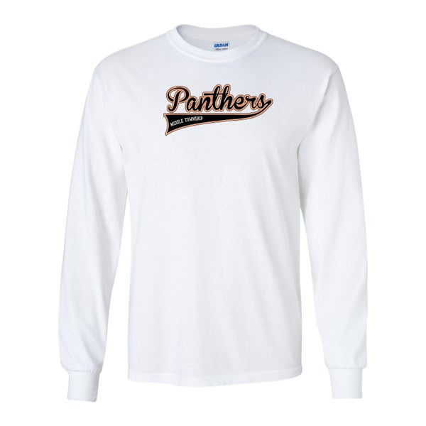 Image of Panthers Logo Longsleeve Tee (White)