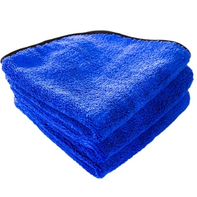 Image of Fluffy Blue Silk Lined Microfiber 16x16 (3-Pack)