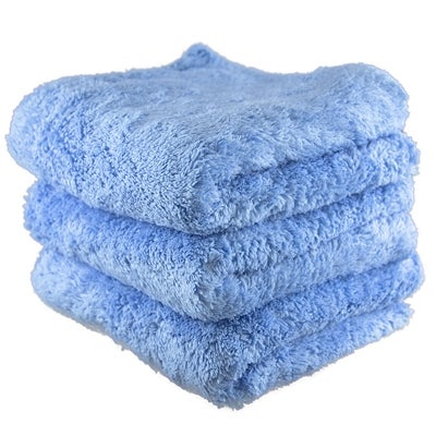 Image of Fluffy Finish Blue Edgeless Microfiber 16x16 (3-Pack)