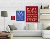 Image of Canvas Wrap - Pray-Succeed-Repeat