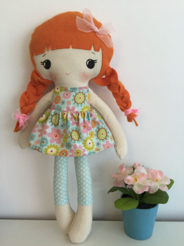 Image of Calico cloth doll pattern