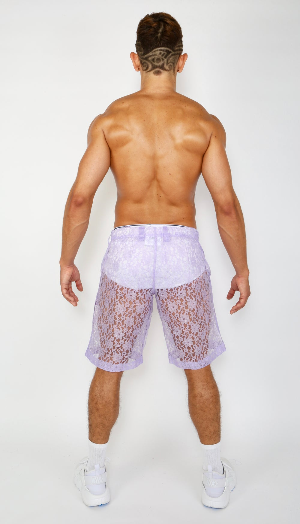 Image of LACE ME UP SHORTS-PURPLE