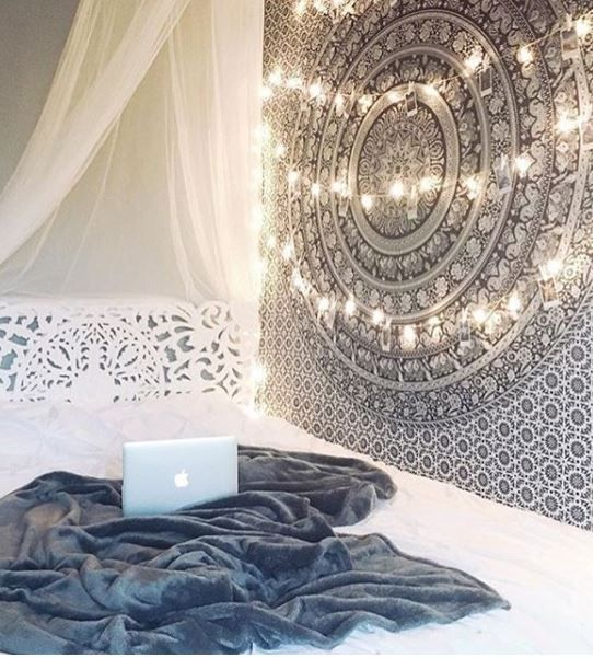 image of pearl mandala tapestry - Bedroom Tapestry