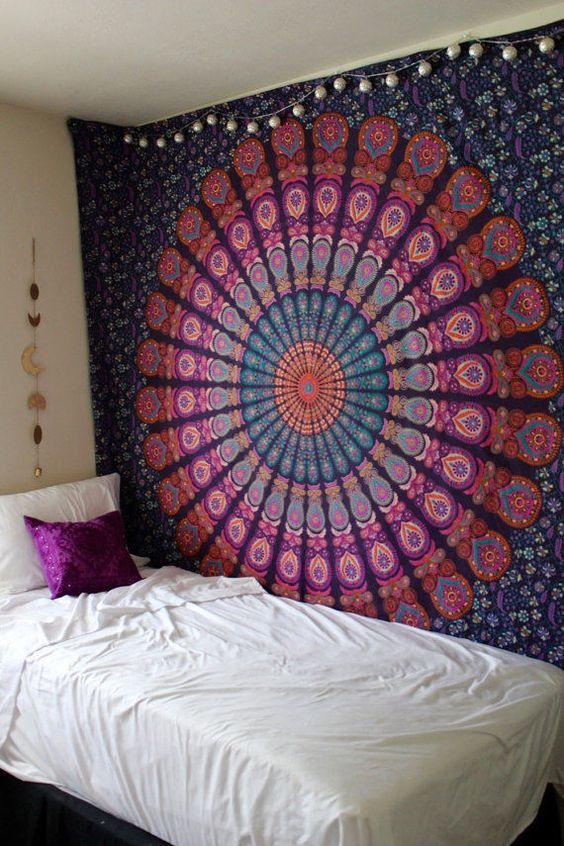 Image Of Sangria Mandala Tapestry ...