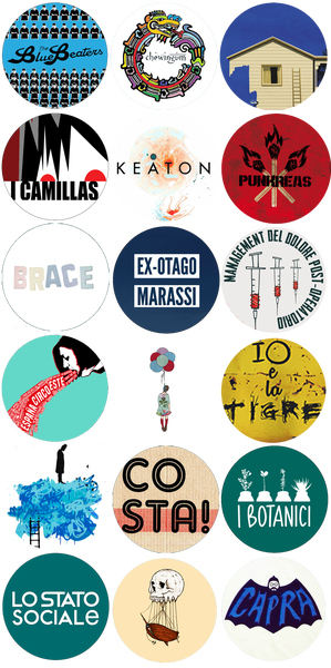Image of 18 spille di 18 band Garrincha Dischi in Offerta