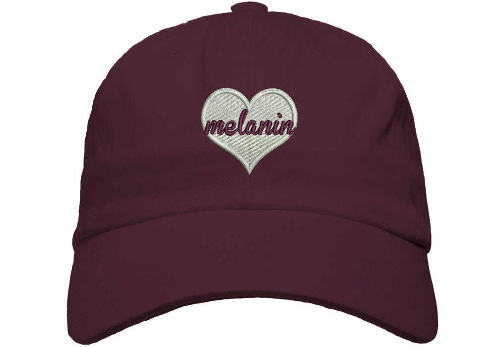 "Image of ""Melanin Love"" Puff Dad Hat"