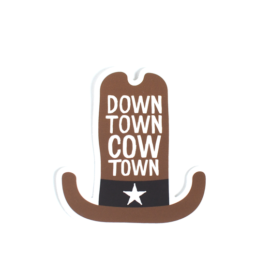 Image of Downtown Cow Town Sticker