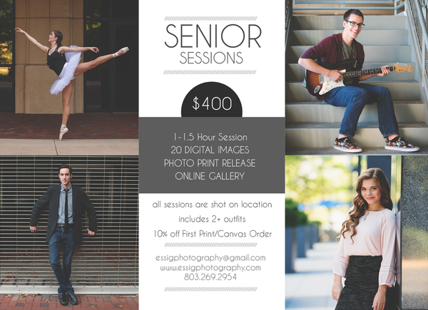 Image of 2020 Senior Portrait Session Pricing