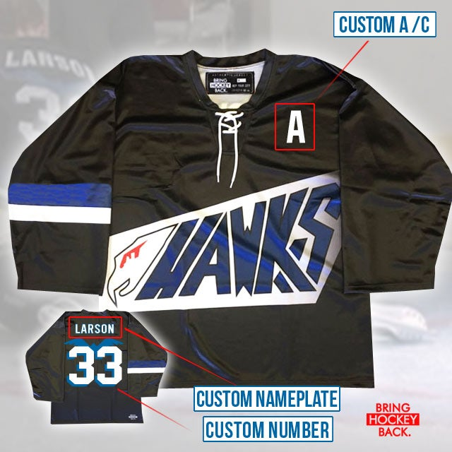 D1 Hawks Custom Jersey [Free shipping]