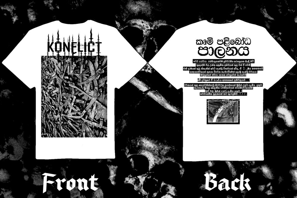 """Image of KONFLICT """" The Final Wave"""" double sided t-shirt"""