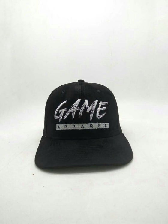 Image of Suede Snapback in Black