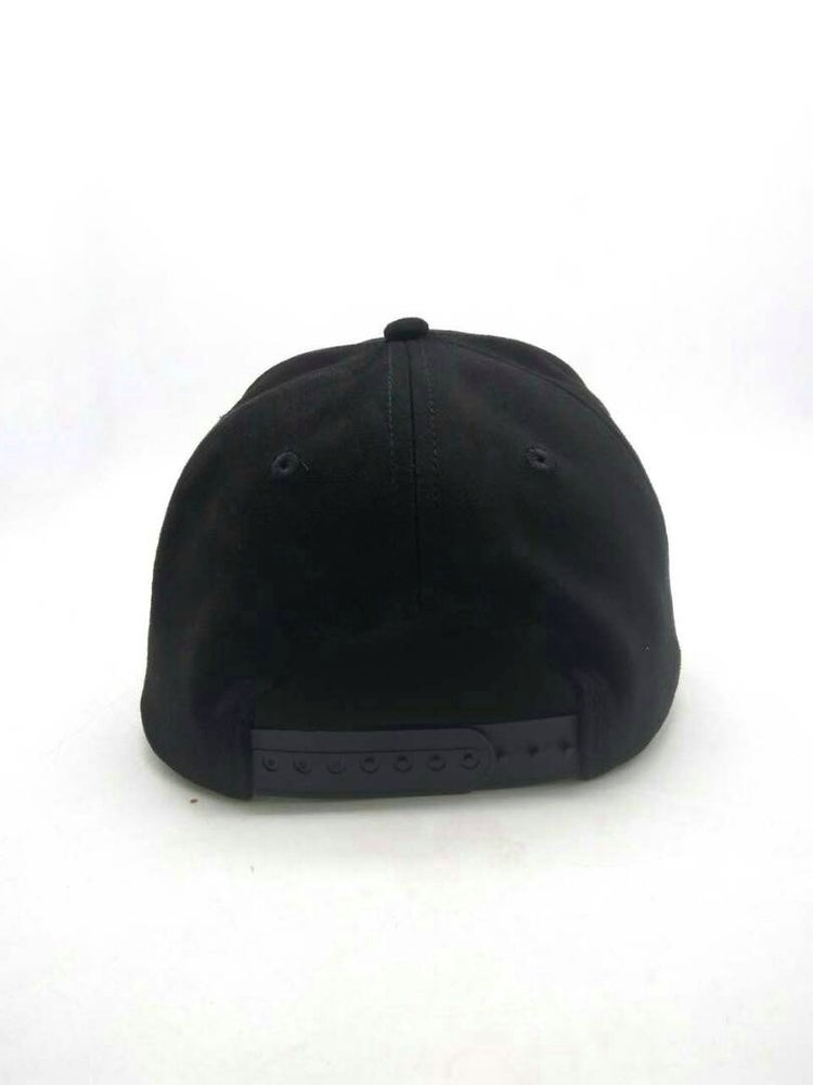 Image of Suede Snapback in Black