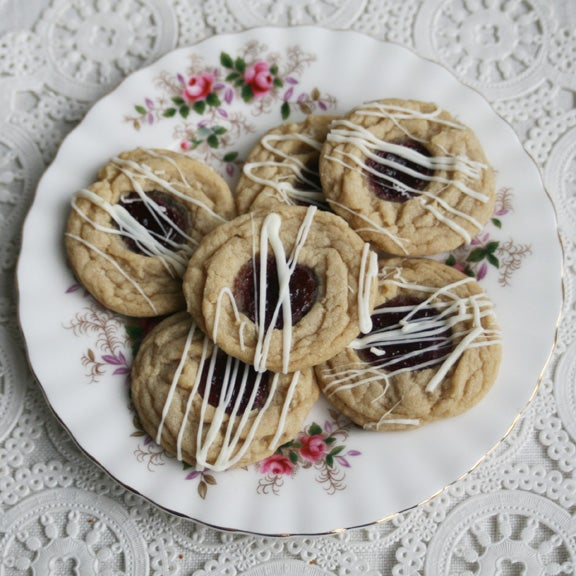 Image of White Chocolate Thumbprints with Seedless Red Raspberry Jelly