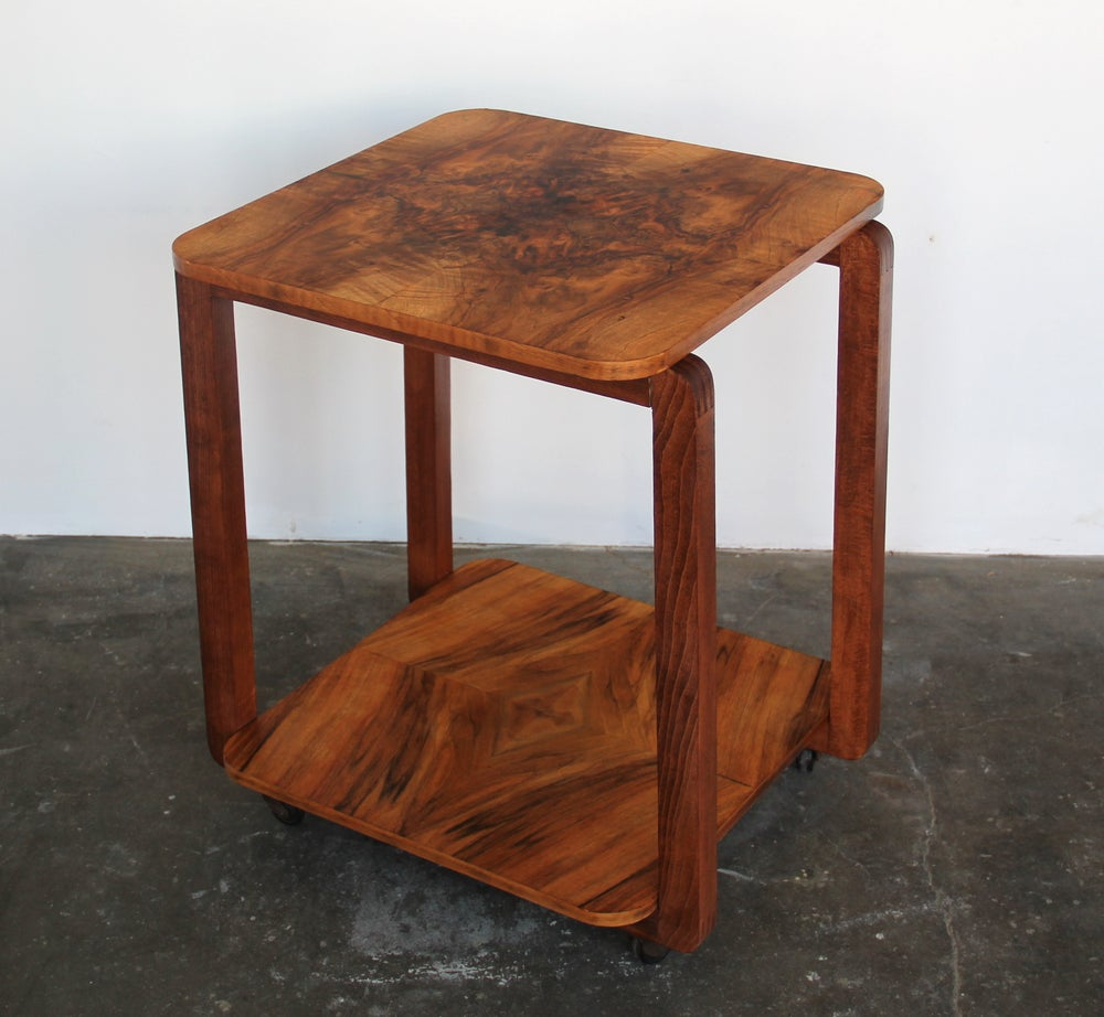 Image of Burl Wood Bar Cart