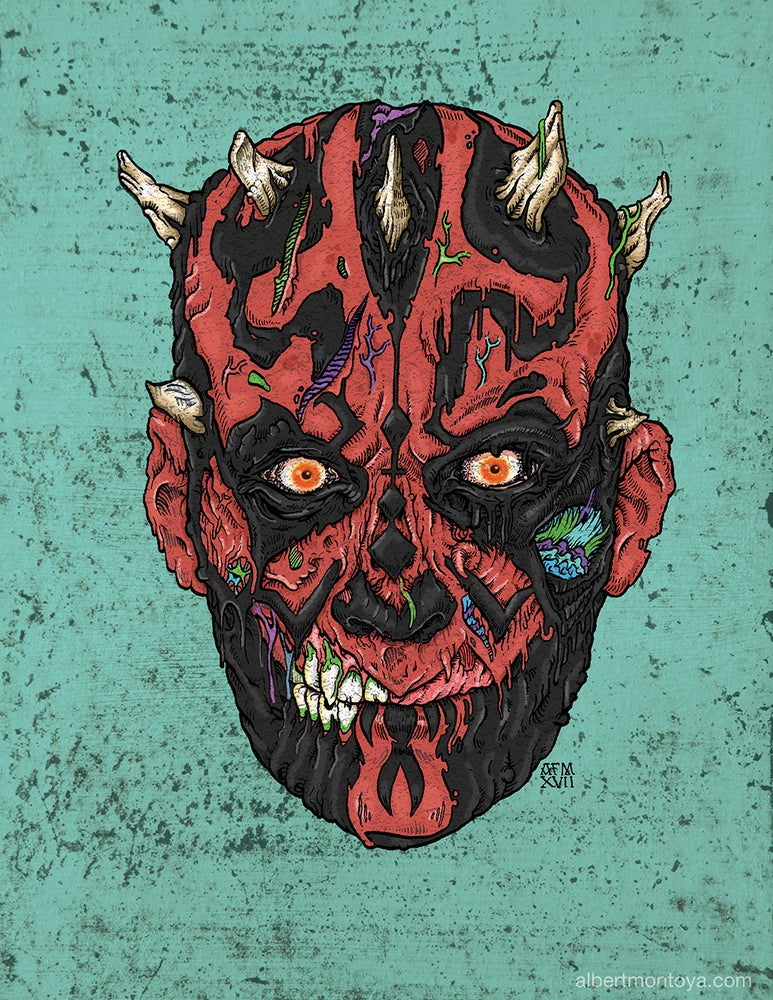 "Image of Print ""Undead Darth Maul"""