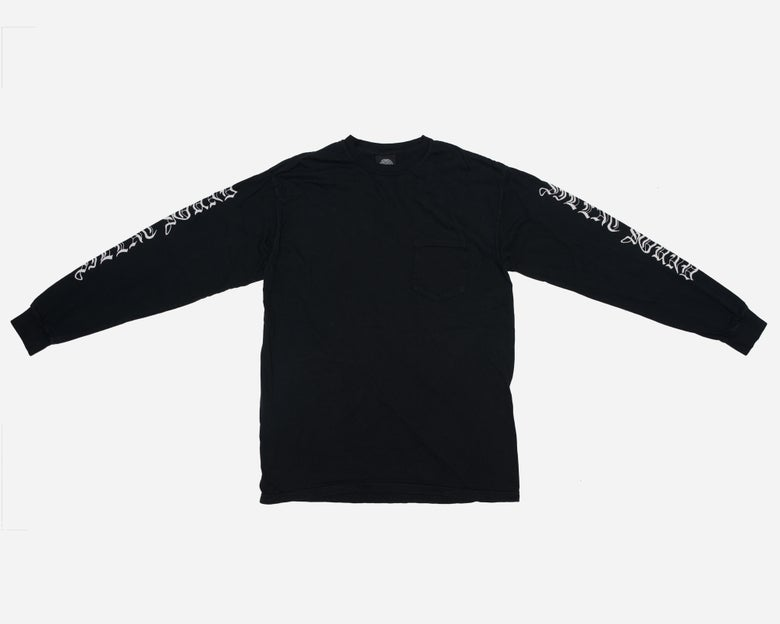Image of L/S Pocket Tee - Black / White