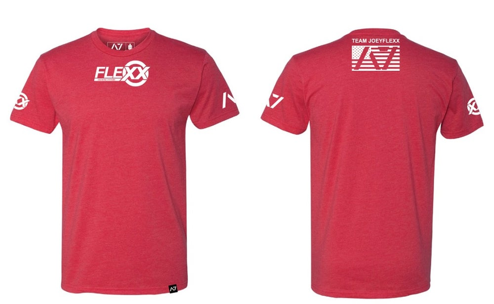 Image of Red/White Flexx/A7 Men's Competition Tee