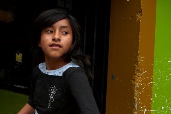 Image of framed print of original photograph - inca girl
