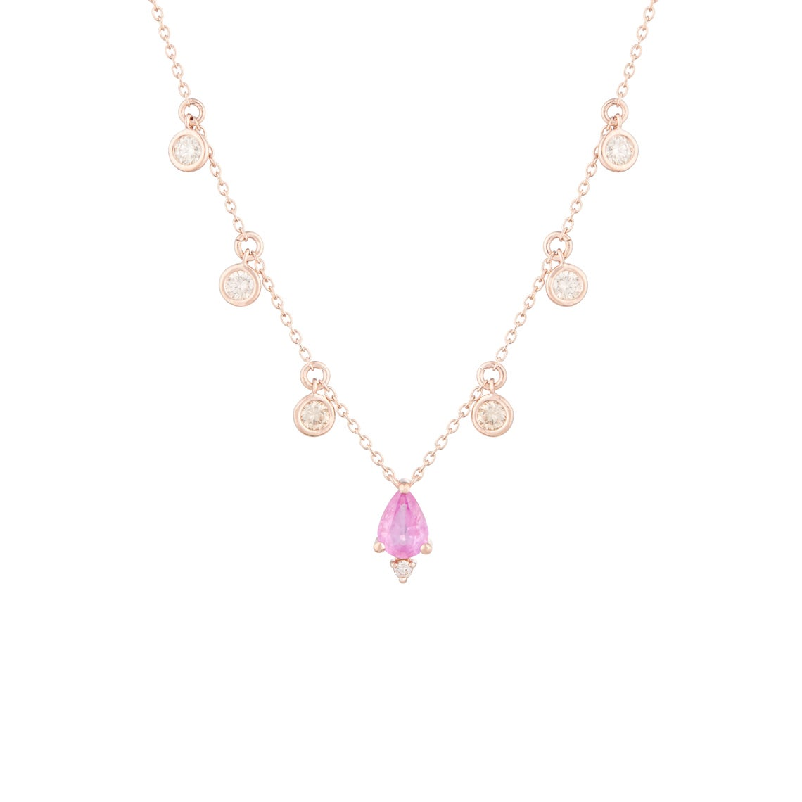 Image of Victoria Pink Sapphire Statement Necklace