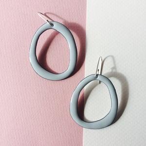 Image of Hoops in  grey pastel