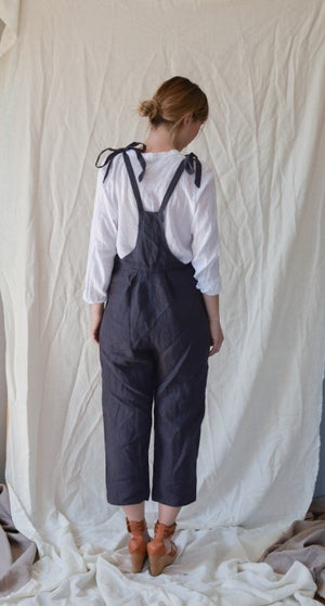 Image of IRMA Blue Linen Dungarees