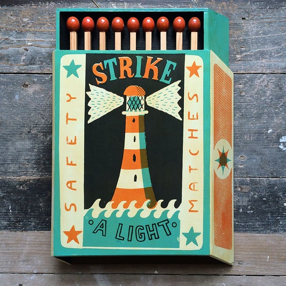 Image of Wooden Strike A Light
