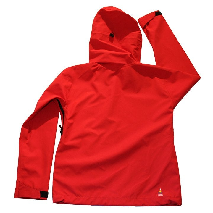 Image of Antero II Jacket Bright Red Hybrid Softshell Polartec Made in Colorado