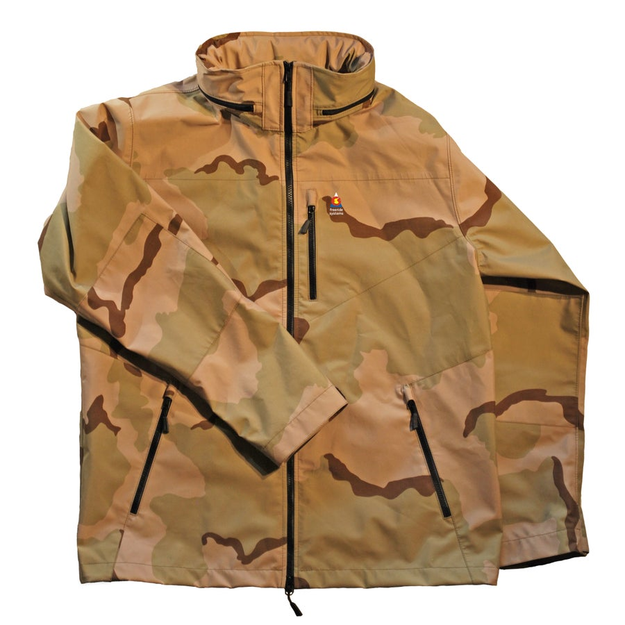 Image of Antero 5 New ! Zip in Hood to Collar Goretex Desert Camo Jacket Made in Colorado USA