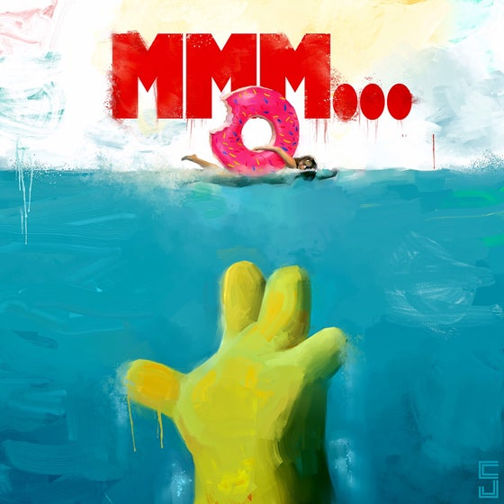 "Image of ""MMM..."" Simpsons x JAWS"