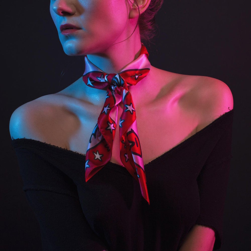 Image of Starry Eyes Silk Scarf - Reg. $42