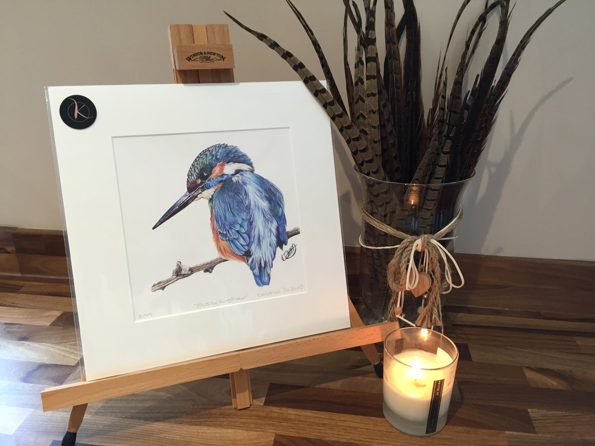 "Image of ""Elvis The Kingfisher"" Limited Edition Print"