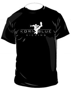 Image of Kornblue Kicking Dri-Fit Black Short Sleeve