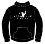 Image of Kornblue Kicking Black Hooded Sweatshirt