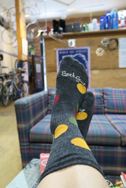Image of Polka Dot shop socks Oh, so supple - *quantities limited*