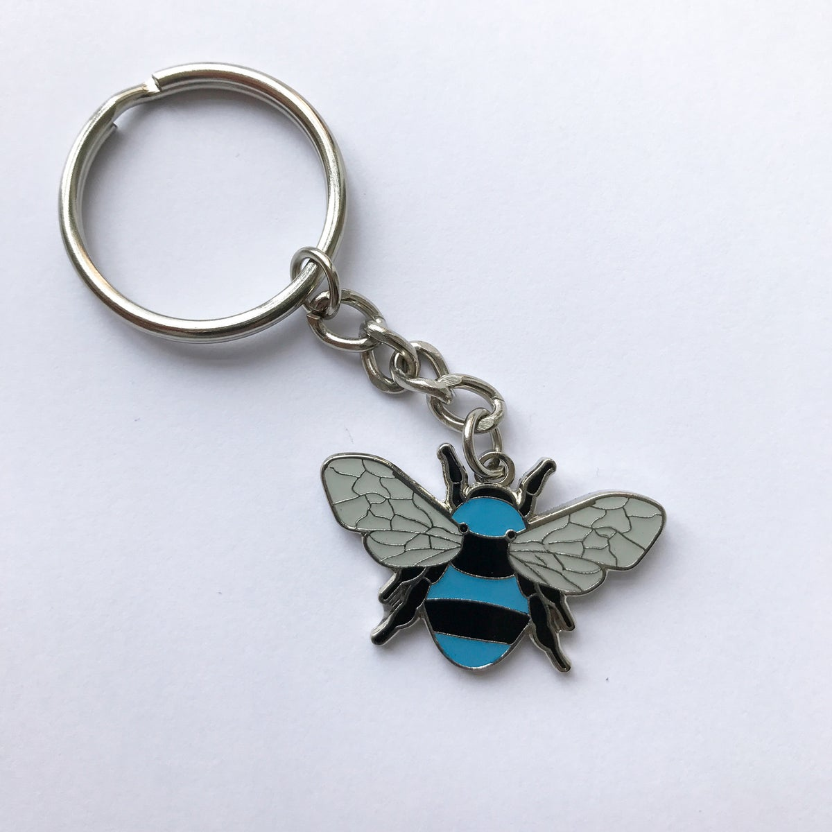 Image of Manchester Bee Keyring - Red or Blue