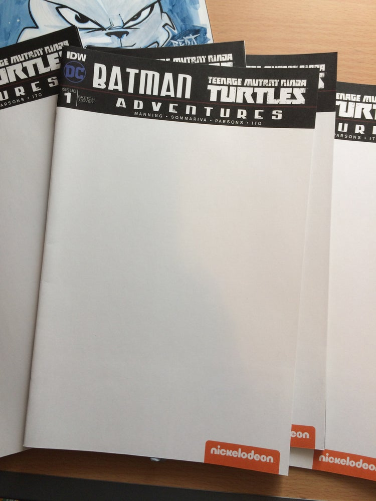 Image of Batman TMNT Sketch cover with ORIGINAL BUST sketch of your choice