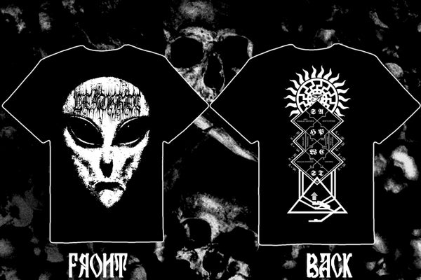 "Image of DEATHKEY ""Deathgate: Alienation"" double sided t-shirt."