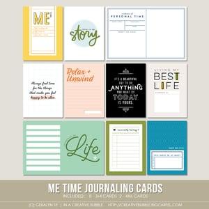 Image of Me Time Journaling Cards (Digital)