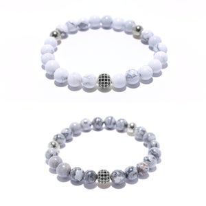 Image of BEADED BRACELET<br>SILVER (UNISEX)