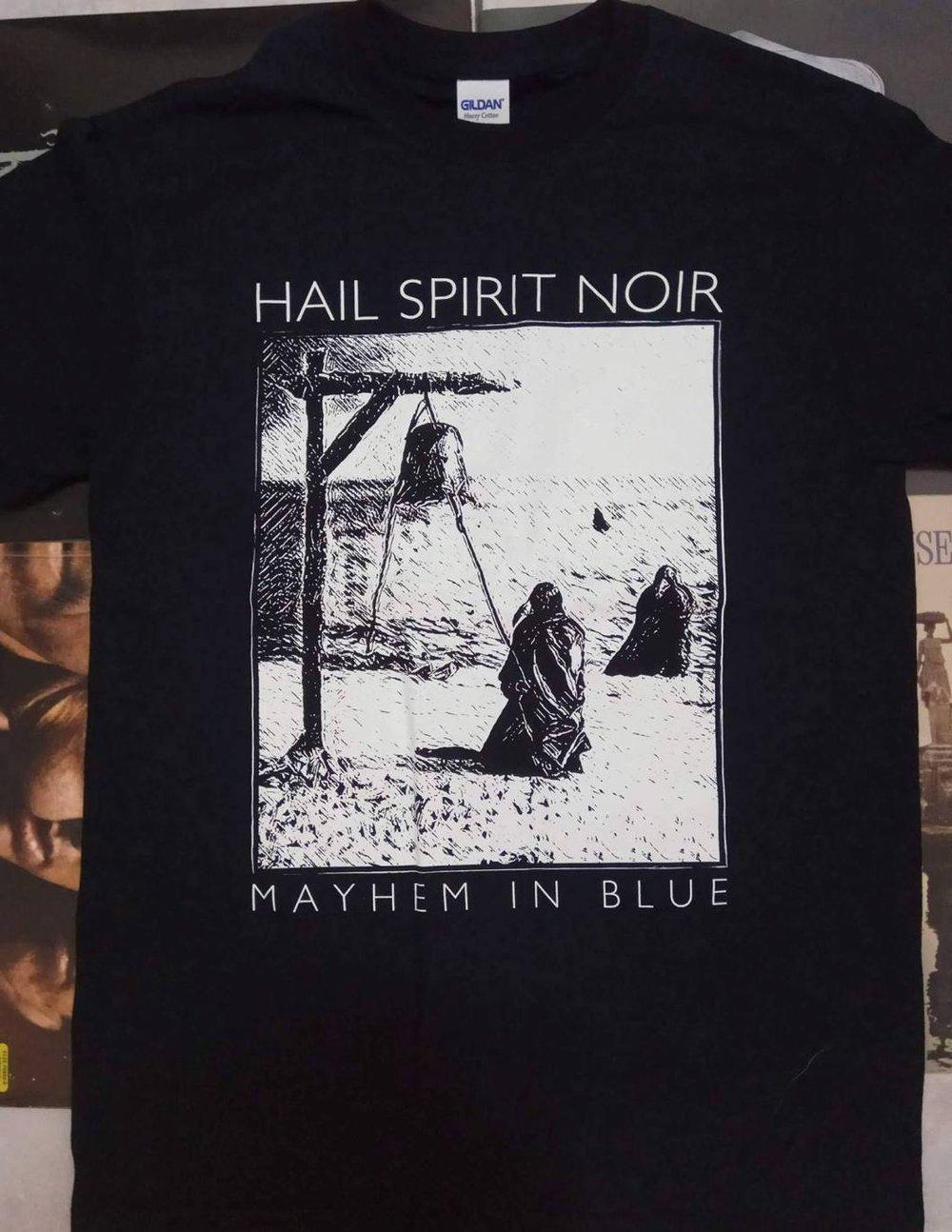 Image of Mayhem in Blue T-shirt