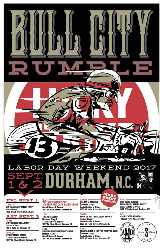 Image of Small Poster 11x17 -Bull City Rumble 13