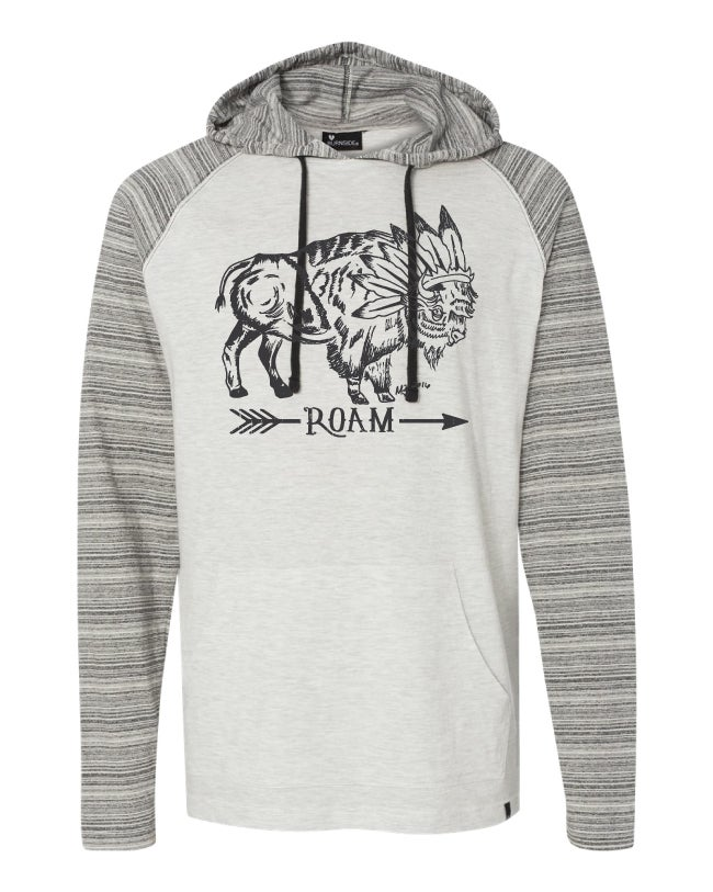 Image of Roam Yarn-Dyed Raglan Hooded Pullover