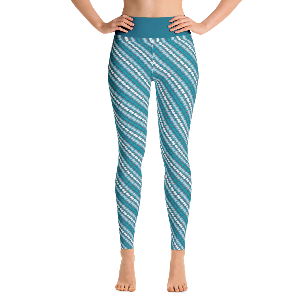 Image of Alaska Pattern Yoga Pants - Glacier