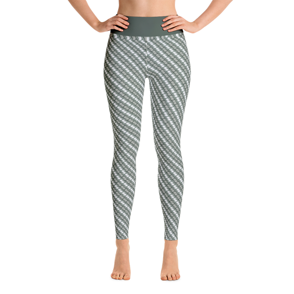 Image of Alaska Pattern Yoga Pants - Lichen