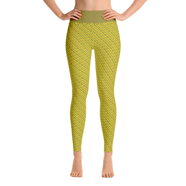 Image of Alaska Pattern Yoga Pants - Dijon