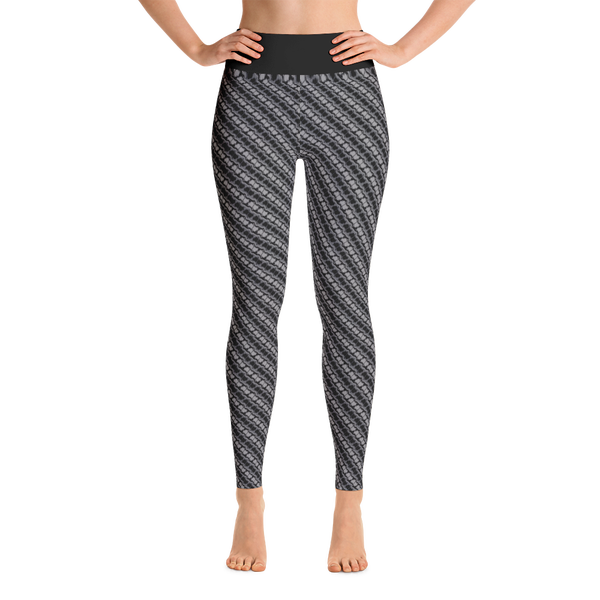 Image of Alaska Pattern Yoga Pants - Slate