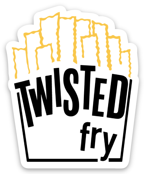 Image of Twisted Fry Laptop Sticker
