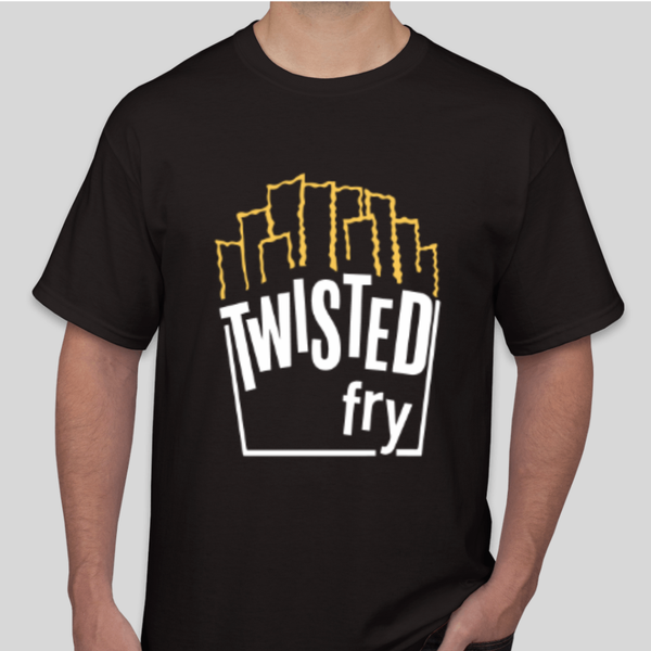 Image of Tri-Blend Black Twisted Tee